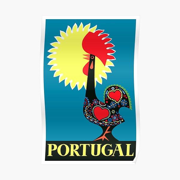 1965 Portugal Coq de Barcelos Voyage Poster Poster