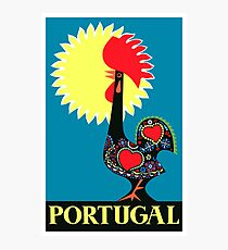 1965 Portugal Rooster Of Barcelos Travel Poster Photographic Print