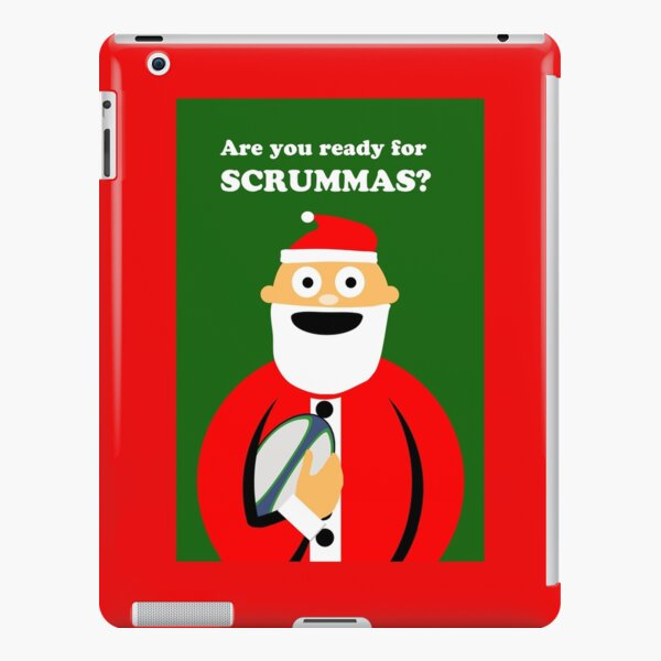 Are You Ready for Scrummas? Christmas Rugby iPad Snap Case
