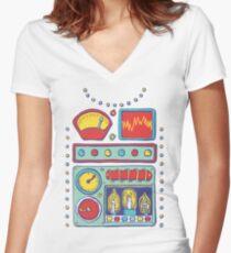 RetroBot Women's Fitted V-Neck T-Shirt