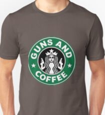 Guns and coffee Unisex T-Shirt