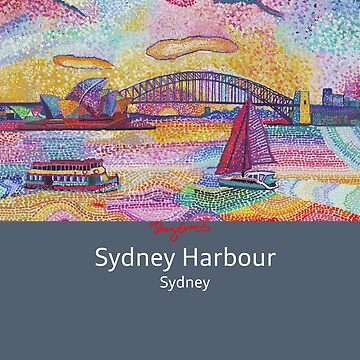 Sydney Harbour Bridge and Opera house.  by tobycentreart