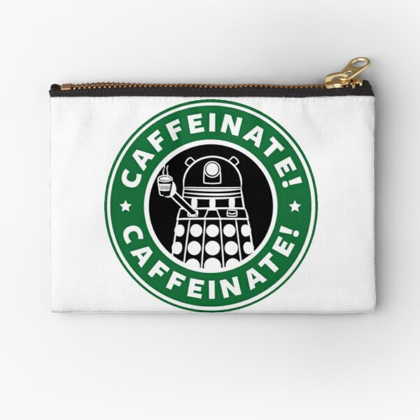 Caffeinate! Exterminate! Zipper Pouch