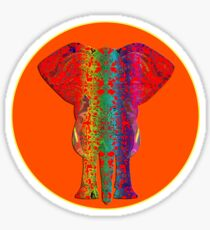 Rainbow Ganesha (Orange)  Sticker
