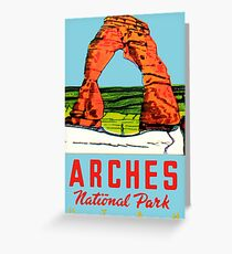 Arches National Park Utah Moab Vintage Travel Decal Greeting Card