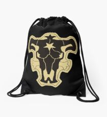 Black Clover Black Bulls  Drawstring Bag