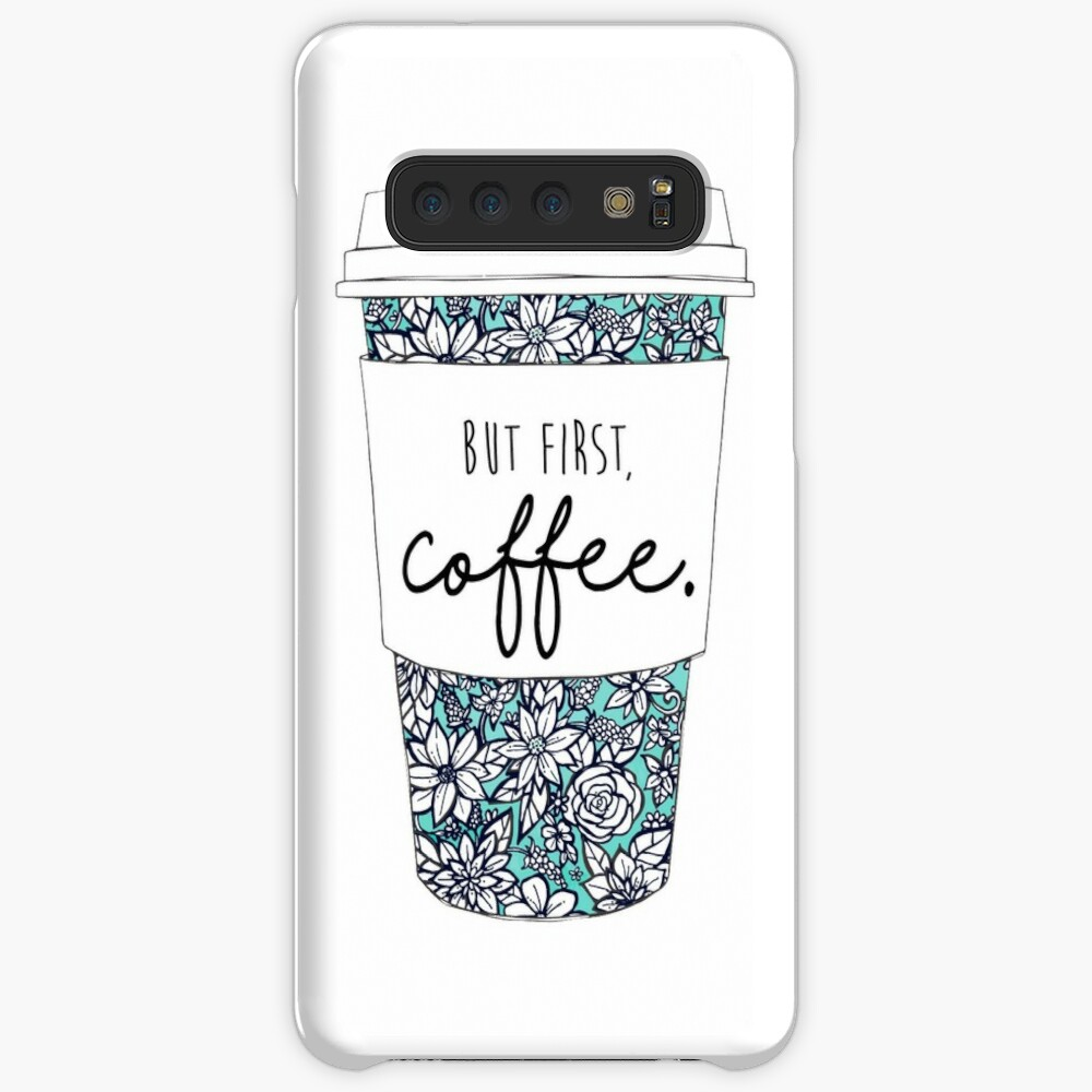 Floral Coffee Case & Skin for Samsung Galaxy