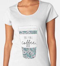 Floral Coffee Women's Premium T-Shirt