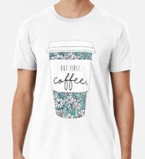 Floral Coffee Men's Premium T-Shirt