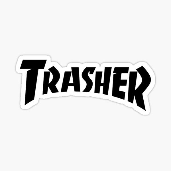 """""""Thrasher"""" Logo Parody Sticker"""