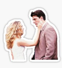Carrie and Mr. Big Sticker