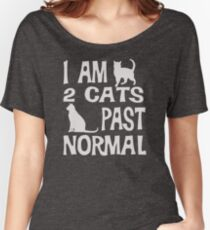 Popular I am 2 cats past normal funny cat QW71 Best Product Women's Relaxed Fit T-Shirt