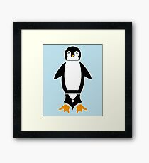 Fountain Penguin Framed Print