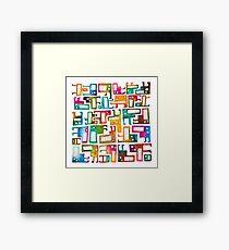 Tetris Monster Pattern Framed Print