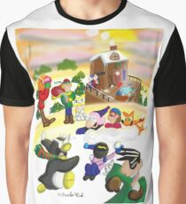 Ski Vacation Graphic T-Shirt