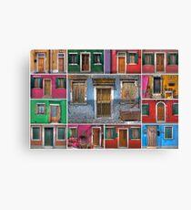 mediterranean doors and windows Canvas Print