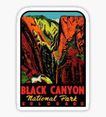 Black Canyon National Park Vintage Travel Decal Sticker