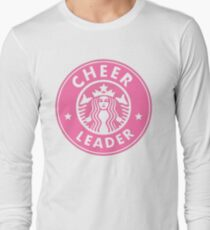 cheerleader starbucks sticker PINK Long Sleeve T-Shirt