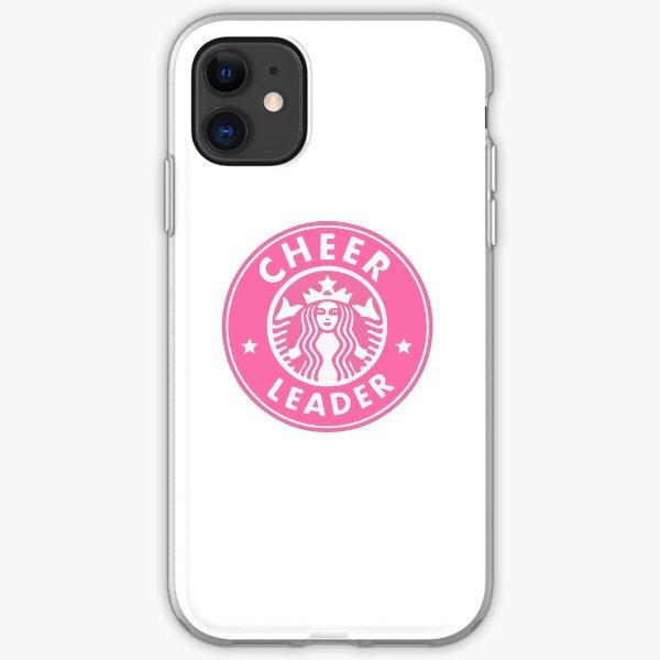 cheerleader starbucks sticker PINK iPhone Soft Case