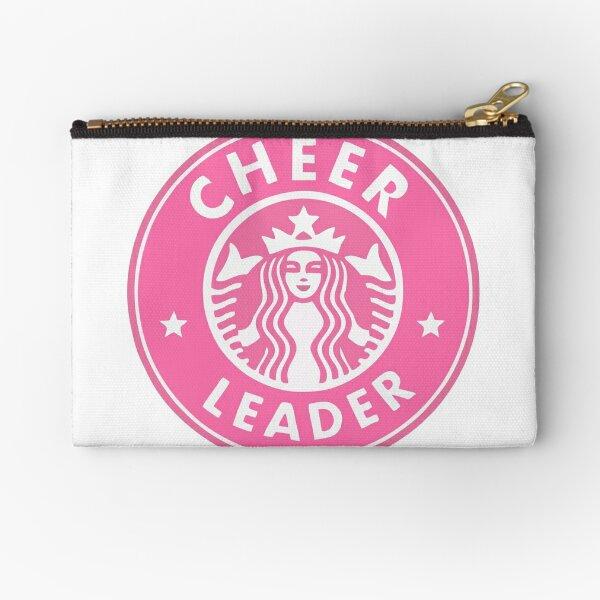 cheerleader starbucks sticker PINK Zipper Pouch