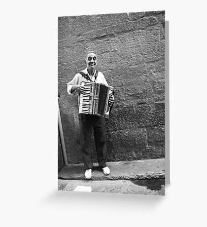 Busker Greeting Card