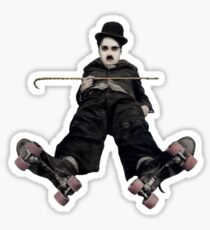 Roller Skating Chaplin Sticker