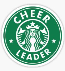 CHEERLEADER STAR BUCKS CHEER GREEN Sticker