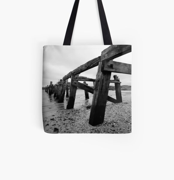 The Old Pier at Fahan All Over Print Tote Bag