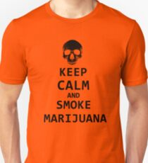 keep calm and smoke marijuana Unisex T-Shirt
