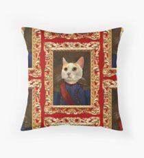 Napoleon Cat Throw Pillow