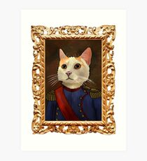 Napoleon Cat Art Print