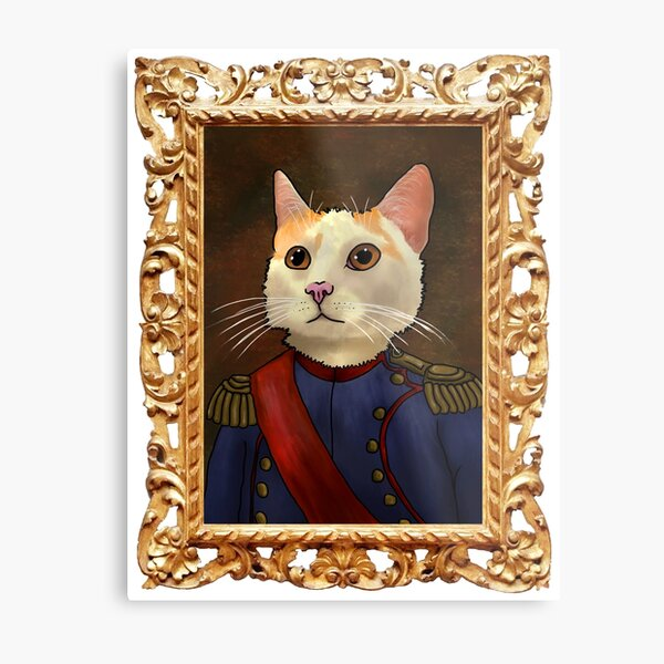 Napoleon Cat Metal Print