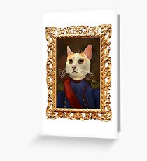 Napoleon Cat Greeting Card