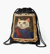 Napoleon Cat Drawstring Bag