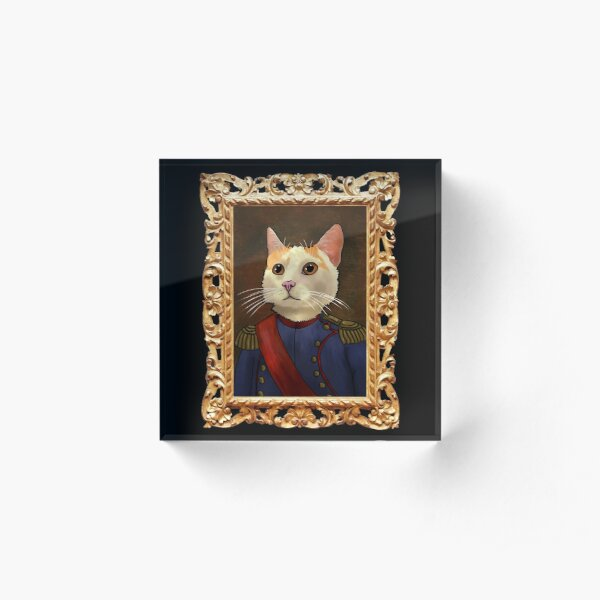 Napoleon Cat Acrylic Block