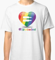 #lovewine (white shadow) Classic T-Shirt