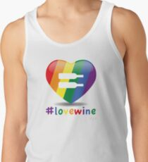 #lovewine (white shadow) Tank Top