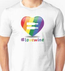 #lovewine (white shadow) Unisex T-Shirt