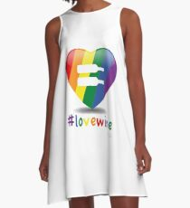#lovewine (white shadow) A-Line Dress