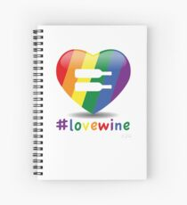 #lovewine (white shadow) Spiral Notebook