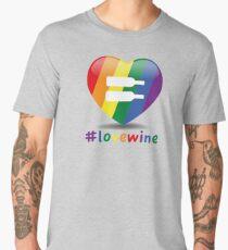 #lovewine (white shadow) Men's Premium T-Shirt