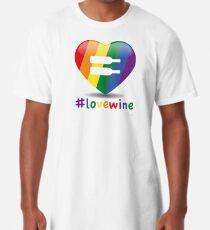 #lovewine (white shadow) Long T-Shirt