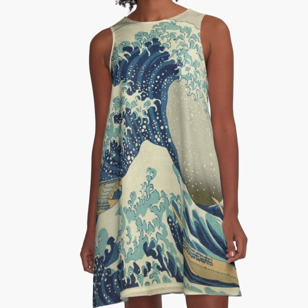 The Great Wave A-Line Dress