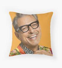 Jeff Goldblum ist glücklich Dekokissen