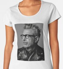 Jeff Goldblum serious Women's Premium T-Shirt