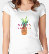 Glass Animals Pineapple Design Women's Fitted Scoop T-Shirt