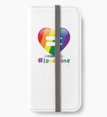 #lovewine (white shadow) iPhone Wallet/Case/Skin