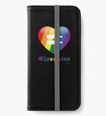 #lovewine (black shadow) iPhone Wallet/Case/Skin