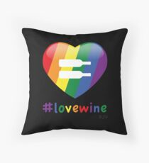 #lovewine (black shadow) Throw Pillow