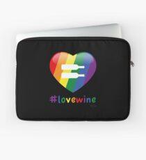#lovewine (black shadow) Laptop Sleeve